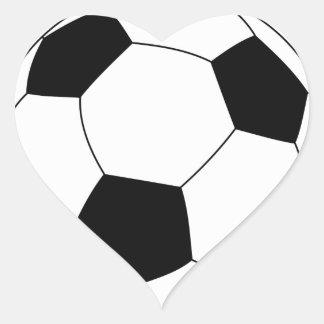 Pegatina del corazón del balón de fútbol