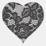 Pegatina del corazón del cordón