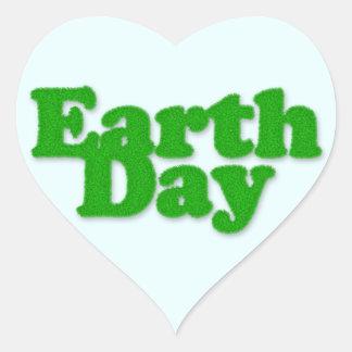 Pegatina del corazón del Día de la Tierra