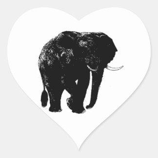 Pegatina del corazón del elefante