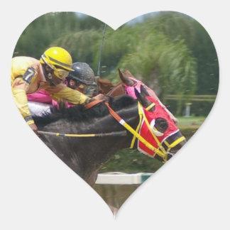 Pegatina del corazón del final de la carrera de