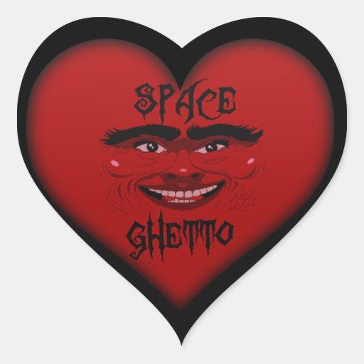 pegatina del corazón del ghetto del espacio