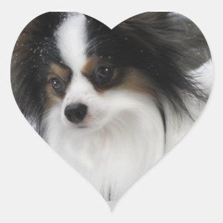 Pegatina del corazón del héroe del beso de Hershey