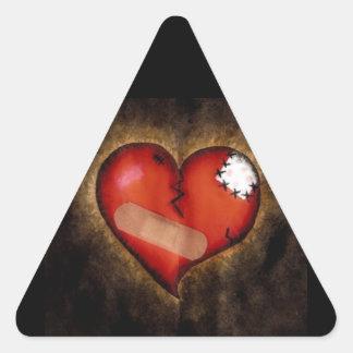 Pegatina del Corazón-triángulo del corazón quebrad