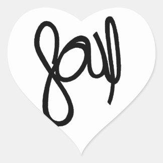 Pegatina del corazón y del alma