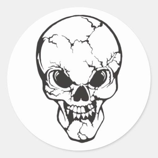 Pegatina del cráneo