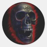 Pegatina del cráneo 1 del demonio
