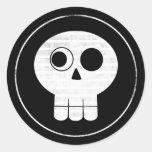 Pegatina del cráneo 2