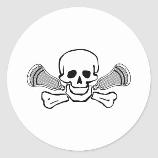 Pegatina del cráneo 2 de los diseños de LaCrosse