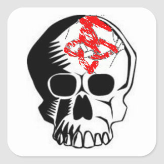 Pegatina del cráneo de Halloween