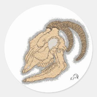 Pegatina del cráneo de la cabra