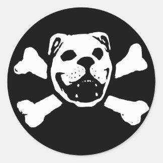 Pegatina del cráneo del dogo