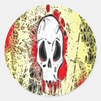 Pegatina del cráneo del Grunge
