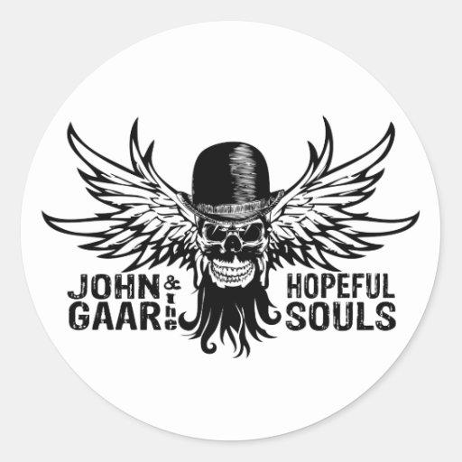 Pegatina del cráneo del vuelo de Juan Gaar