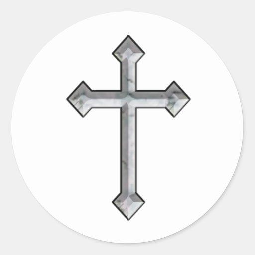Pegatina del crucifijo