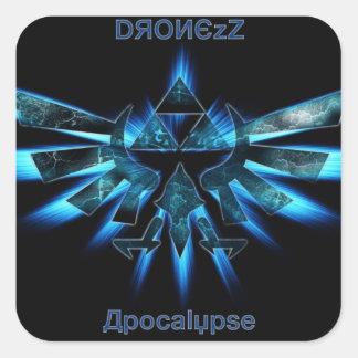 Pegatina del cuadrado de la apocalipsis de DronezZ