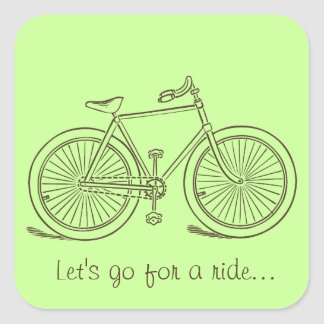 Pegatina del cuadrado de la bicicleta del vintage