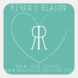 Pegatina del cuadrado de la razón de Riyan