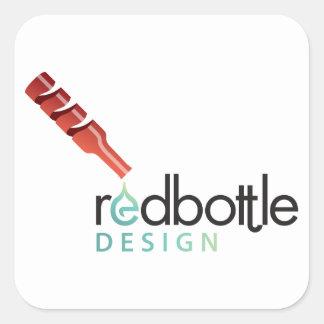 Pegatina del cuadrado del Logotipo-ed de RedBottle