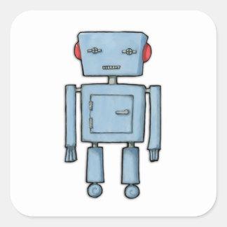 Pegatina del cuadrado del robot del juguete