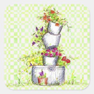 Pegatina del cubo del jardín de flores del control