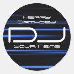 Pegatina del cumpleaños de DJ