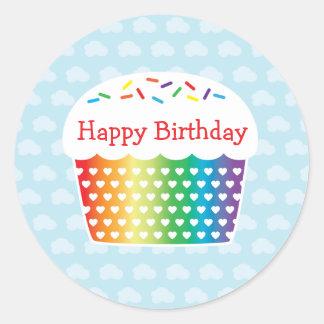 Pegatina del cumpleaños de la magdalena del arco