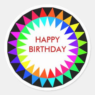Pegatina del cumpleaños del espectro