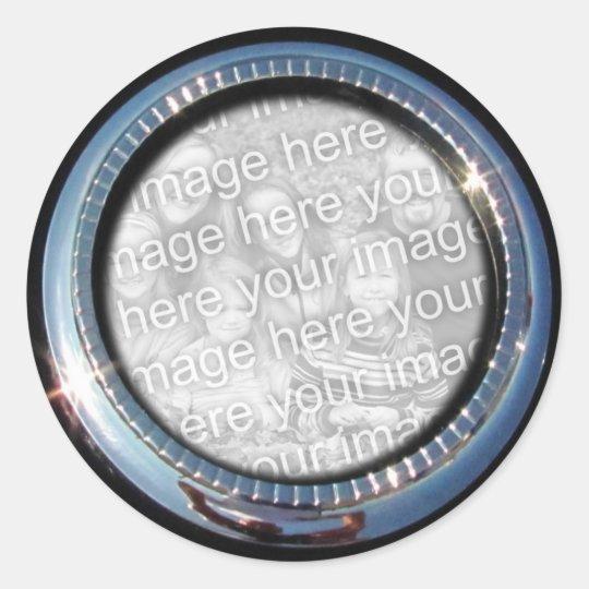Pegatina del ~ de la plantilla del círculo del