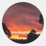 Pegatina del ~ de la puesta del sol del solsticio