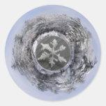 Pegatina del ~ de Planetoid de la escama de la