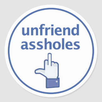 Pegatina del dedo de Facebook