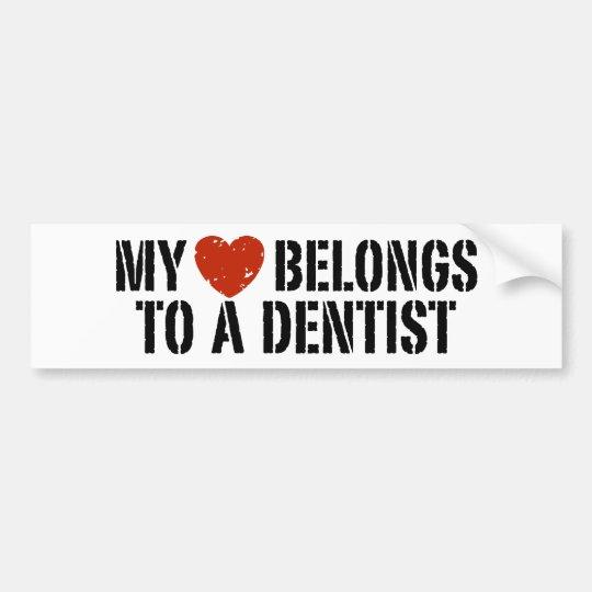Pegatina del dentista pegatina para auto