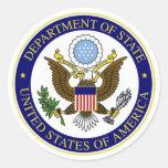 Pegatina del departamento de estado