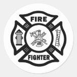 Pegatina del departamento del fuego del bombero
