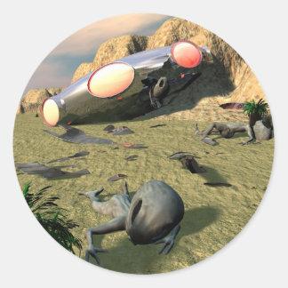 Pegatina del desplome del UFO de Roswell