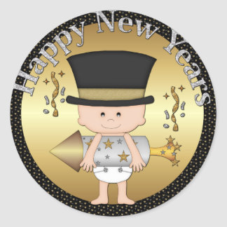 Pegatina del día de fiesta de los Años Nuevos del