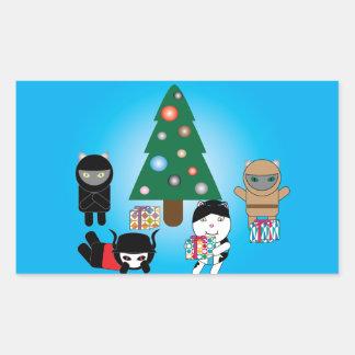 Pegatina del día de fiesta del navidad de los