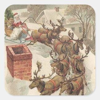 Pegatina del día de fiesta del vintage del navidad