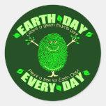 Pegatina del Día de la Tierra del ambiente de la