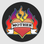 Pegatina del día de madre del tatuaje del corazón