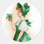 Pegatina del día de St Patrick del vintage