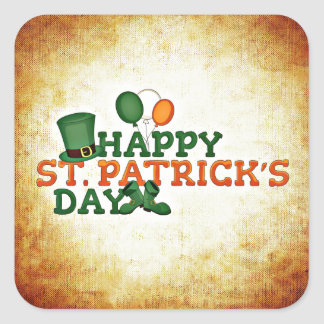 Pegatina del día de St Patrick feliz
