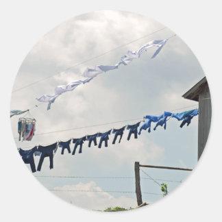 Pegatina del día del lavadero