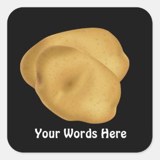 Pegatina del dibujo animado de la patata de la