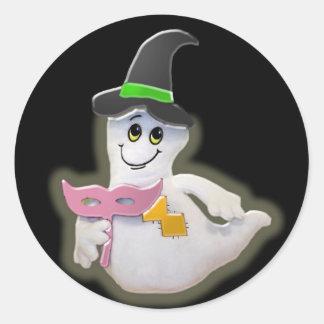 Pegatina del dibujo animado del fantasma de