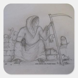 Pegatina del dibujo de lápiz del parca