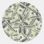 Pegatina del dinero