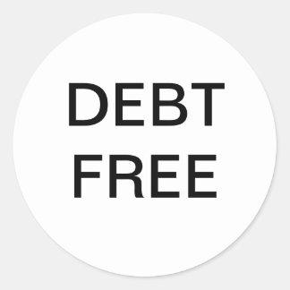 Pegatina del dinero libre de la deuda