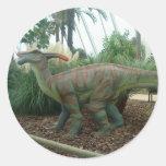 Pegatina del dinosaurio de Parasaurolophus